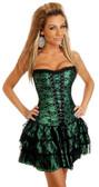 Daisy Corset Emerald Lace Corset Dress