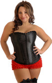 Daisy Corset Plus Size Strapless Ruffled Hook and Eye Corset