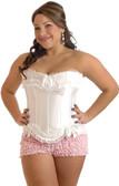 Daisy Corset Plus Size Burlesque Bow Strapless Corset