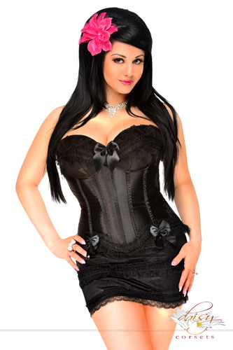 Daisy Corset Plus Size Burlesque Corset and Skirt Set