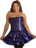 Daisy Corset Plus Size Purple Lace Corset Dress