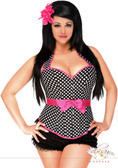 Daisy Corset Plus Size Rockabilly Belted Halter Corset