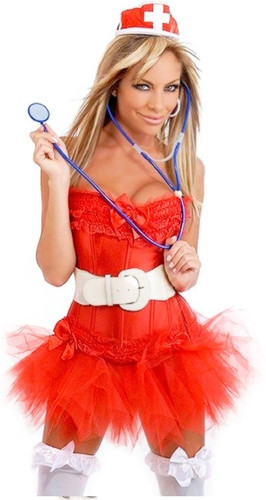 Daisy Corset 7 PC Naughty Nurse Costume