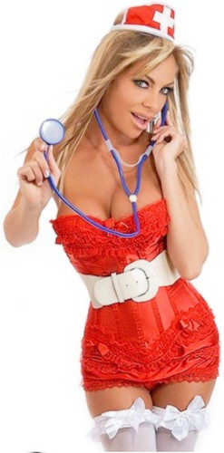 Daisy Corset 7Pc Naughty Nurse Costume