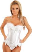 Daisy Corset White Strapless Burlesque Corset