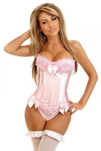 Daisy Corset Pink Underwire Burlesque Corset