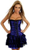 Daisy Corset Purple Lace Corset Dress