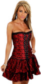 Daisy Corset Red Lace Corset Dress