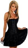 Daisy Corset Black Lace Corset Dress