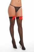Oh La La Cheri Thigh High Stocking with Bow