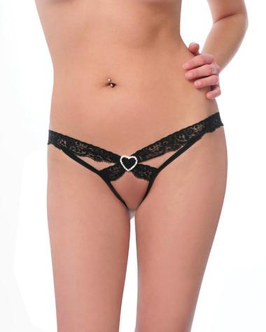 Bodyzone Love N' Lace Thong - Black