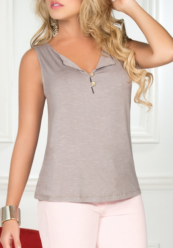 Ryocco Blouse with Cut-out Cowl Back Design