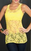 Ryocco Lace Blouse - Yellow