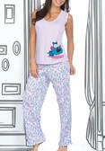 Ryocco Polka Dots Long Pants Pajama Set