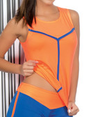 Ryocco Orange Tank Top Sportswear