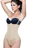 Vedette Women's Gitta Strapless Bikini Bodysuit with Front Closure - Nude