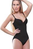 Vedette Noelle Shaping Bodysuit with Bra in Bikini - Black