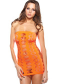 Fantasy Lingerie Orange Diamond Cutout Dress