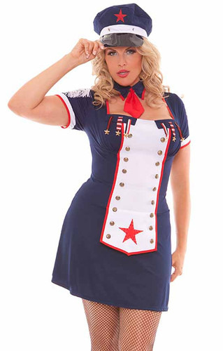 Elegant Moments 3Pc Naval Knockout Costume Plus Size