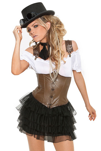 Elegant Moments 4Pc Racy Steampunk Rose Costume