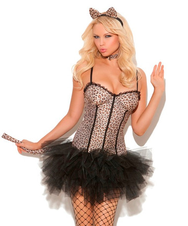Elegant Moments 4Pc Feline FiFi Costume