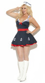 Elegant Moments 2Pc Sailor Delight Costume Plus Size