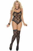 Elegant Moments Lace Teddy and Matching Thigh-Highs