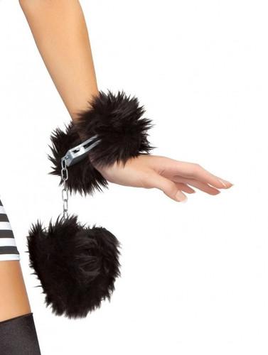 Roma Costume Fur Trimmed Handcuffs