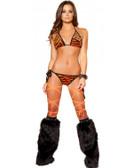 Roma Costume 2Pc Tiger Print Bikini Set