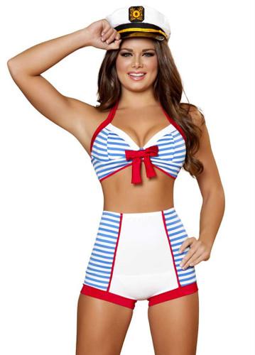 Roma Costume 3Pc Playful Pinup Sailor