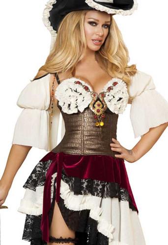 Roma Costume 3Pc Sexy Pirateer