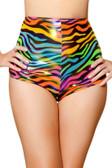 Roma Costume Waisted Shorts - Rainbow Zebra