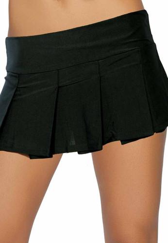 Roma Costume Black Pleated Skirt