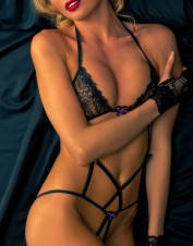Fearless and Fun Lingerie Crotchless Body with Bows