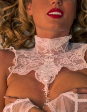 Fearless and Fun Lingerie White Lace Bridal Collar