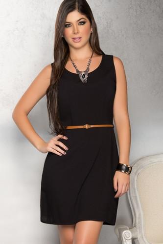 Ryocco Short Dress - Black