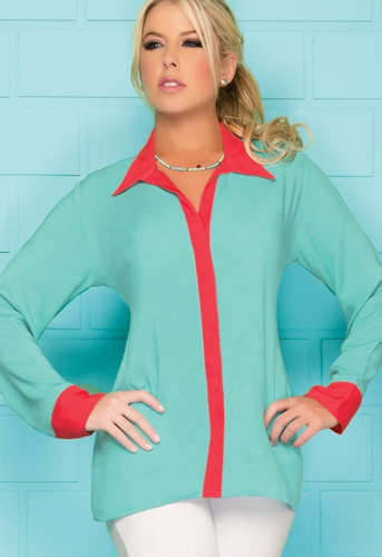 Ryocco Picasso Long Sleeve Blouse