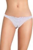 Oh la la Cheri Bridal Crotchless Pearl Thong Panty - White