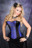 Timeless Trends Royal Blue Over Bust Corset