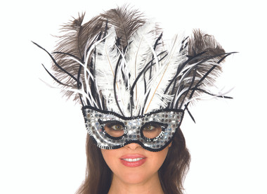 Be Wicked Feather Mask Costume