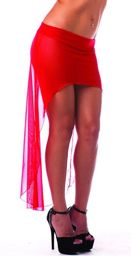BodyZone Apparel Mesh Low Skirt - Red(Front)