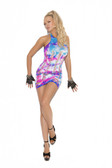 Elegant Moment Neon Tie Pothole Mini Dress