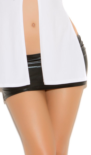 "Elegant Moments ""Wet Look"" Mini Skirt"