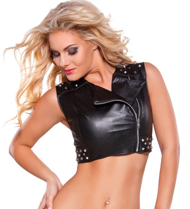Allure Lingerie Faux Leather Vest