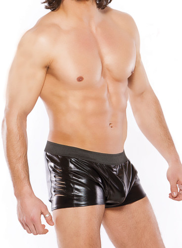Allure Lingerie Zeus Wet look Slashed Shorts