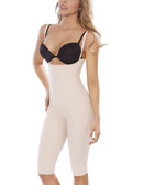 Moldeate Push Up and Tummy Control Shapewear with Convertible Straps Long Legs - Beige