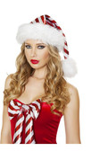 Roma Costume Red/White Striped Christmas Hat
