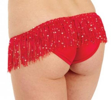 Body Language Fashions Brazilian Back Bottom with Fringe