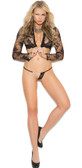 Elegant Moments Lace G-String with Chain Detail