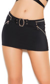Elegant Moments Queen Size Lycra Mini Skirt with Buckle and Zippers
